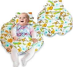 Cojín de lactancia 4 en 1, de algodón de alta calidad, minialmohada y arnés para bebés incluidos  amarillo amarillo