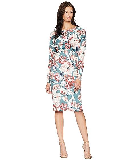 Alexia Admor Printed Floral Blouson Midi Dress, MULTI