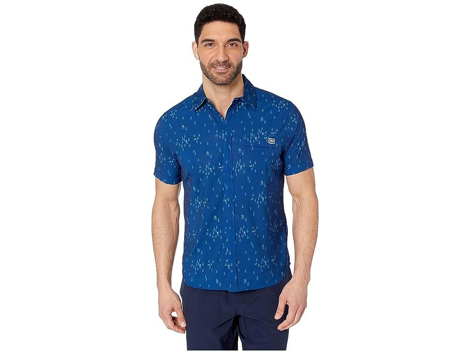 Helly Hansen Oya Short Sleeve Shirt (Catalina Blue Print) Men