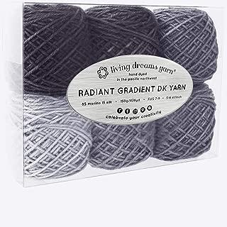 Living Dreams Radiant Gradient DK Yarn. Super Soft Merino Silk. USA Hand Dyed: Lunar Eclipse