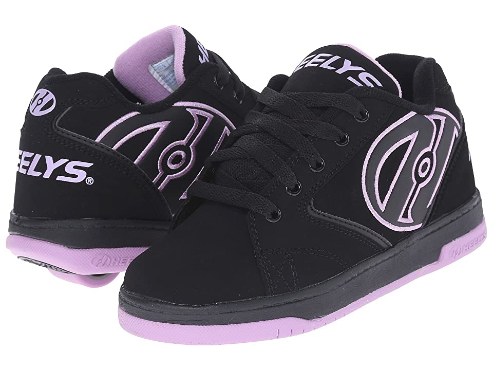 Heelys Propel 2.0 (Little Kid/Big Kid/Adult) (Black/Lilac) Kids Shoes