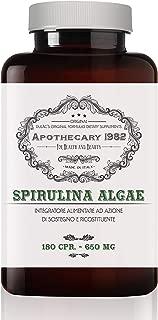 Dulàc - Apothecary 1982 - Spirulina Algae - 180 Capsules - Tonic and Anti-inflammatory - 500 mg - 100% Made in Italy