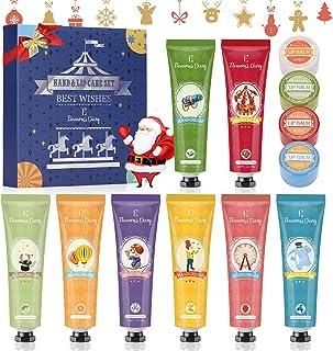 Handcreme Weihnachtsgeschenkset, Lippenbalsam Set, Geschenkset für Frauen Eleanore's Diary 8 PCS Fragrance Hand Creme Set ...