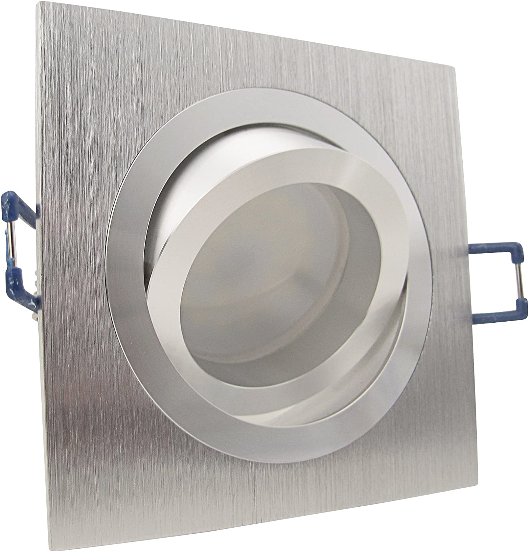12er Set (10-20er Sets) Einbaustrahler NOBLE 1 230V Deko SMD LED 1,2 Watt (dekorativ) Kalt-Wei Decken Einbauleuchte Aluminium drehbar schwenkbar