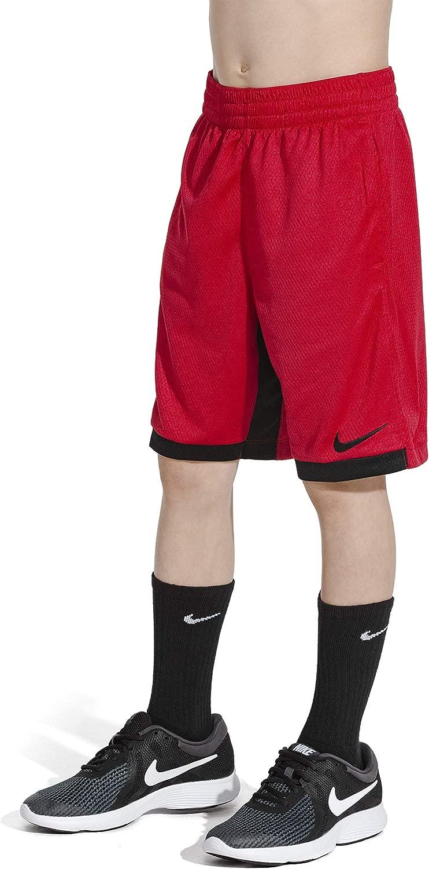 NIKE Boys' Dry Trophy Athletic Shorts, Gym rot schwarz schwarz, Medium