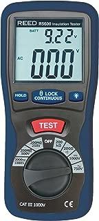 REED Instruments R5600 Insulation Tester and Multimeter (Megohmmeter), 2000 Ohms Resistance, 1000V Voltage