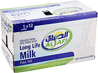 Al Safi Long Life 100% Cow's Milk - Full Fat, 12 x 1 Litre