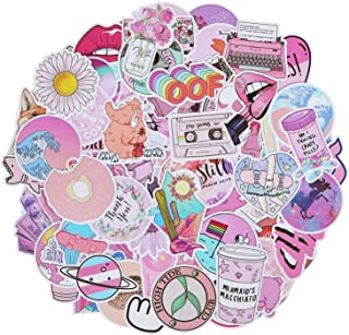 Roberly 103 Piece Cute VSCO Stickers for Water Bottles, Lovely Aesthetic Stickers Waterproof Pink Stickers Skateboard Stickers for Girls Perfect for Water Bottle Laptop Guitar Phone