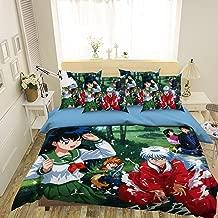 AJ WALLPAPER 3D Anime Inuyasha 316 Bedding Pillowcases Quilt Duvet Cover Set Single Queen King | 3D Photo Bedding, US Amy (Double)