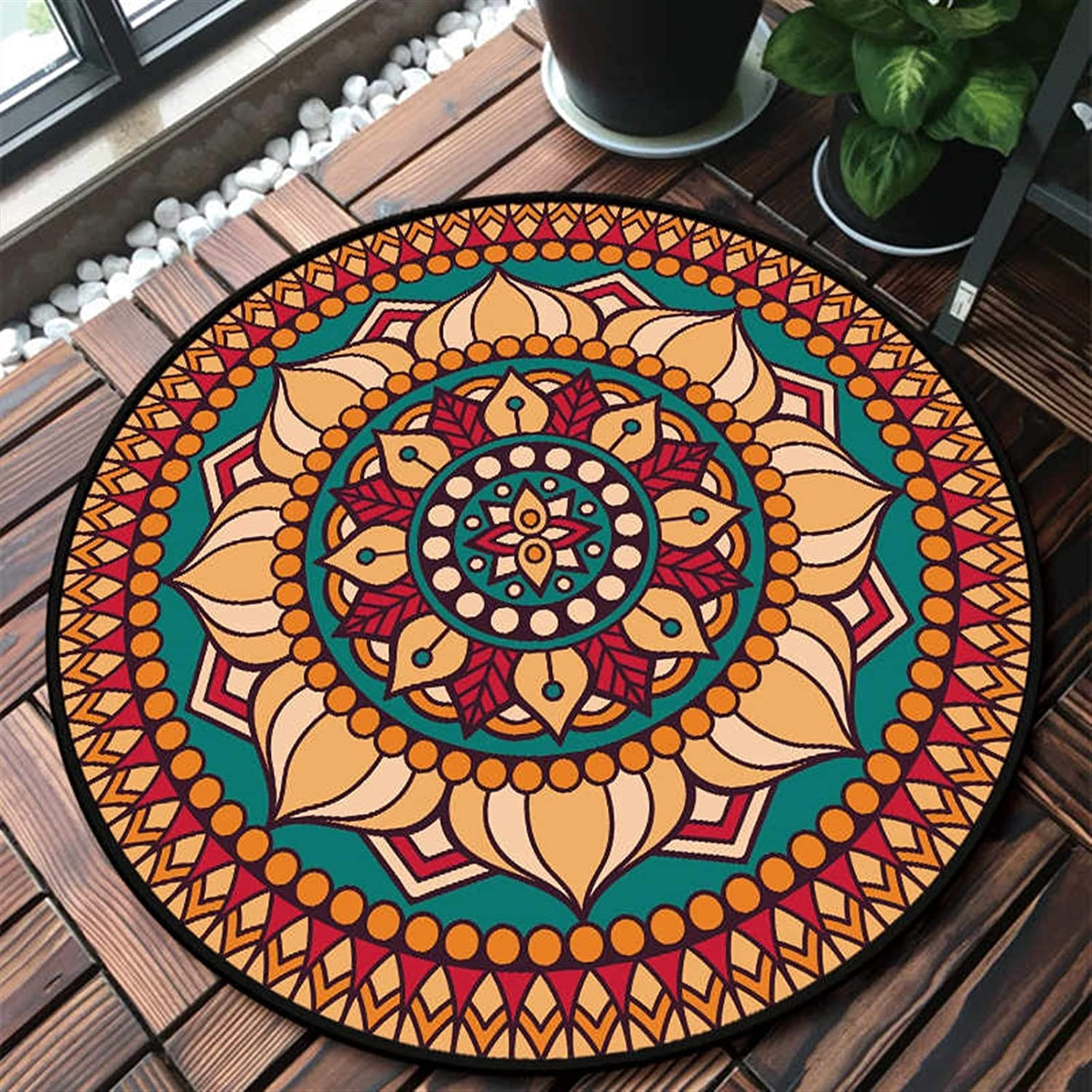 SHENYF-Hua National Spring new work one after another Style Round Mandala Carpet Cheap bargain Room Decor Rugs P