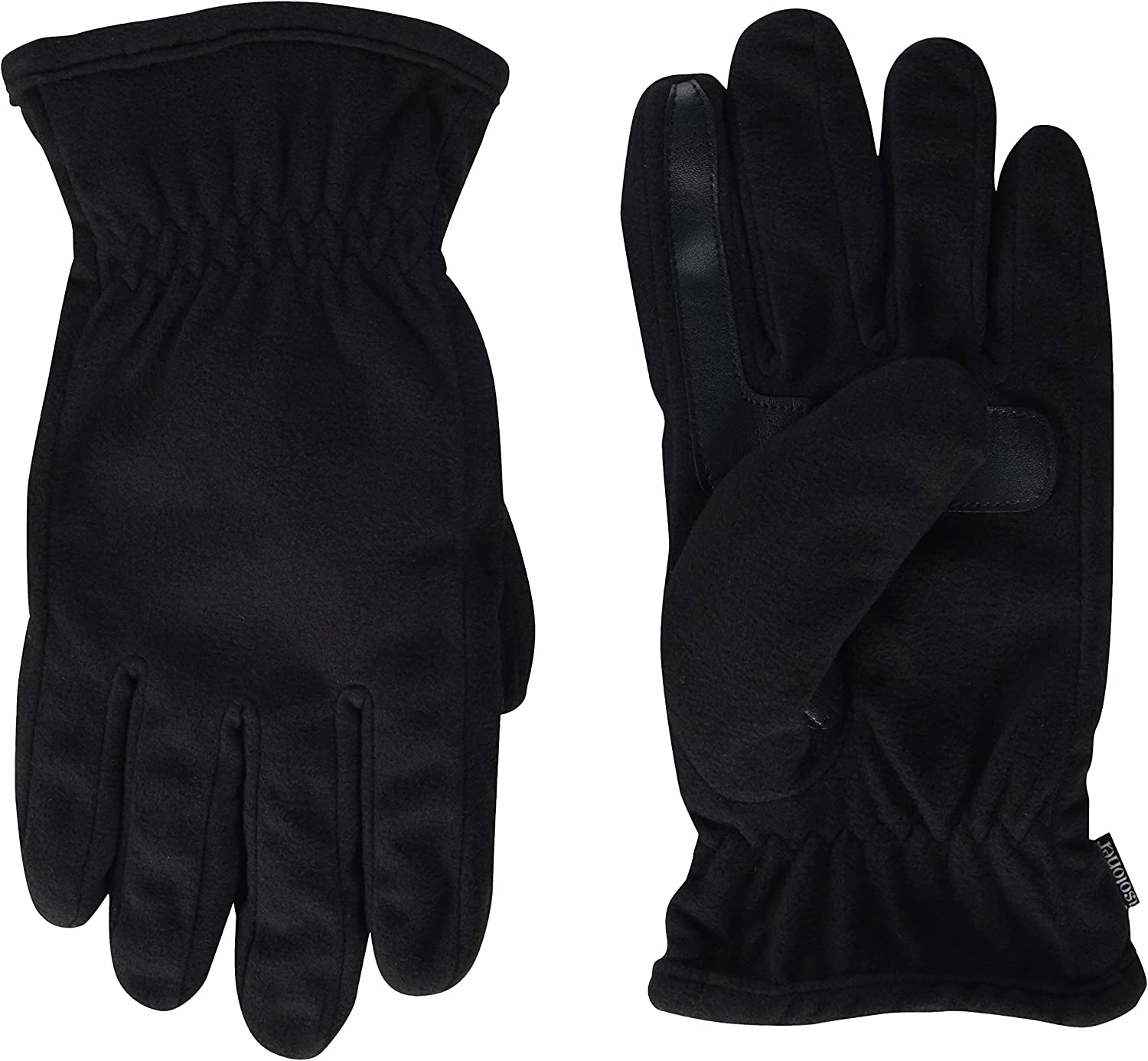 isotoner Men's Fleece Touchscreen Glove, Water-Repellent with a Sherpa Soft Lining