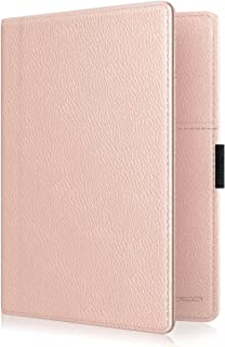 MoKo RFID Blocking Passport Holder Wallet, Multi-purpose Passport Cover Premium PU Leather Travel Wallet Case Cover - Rose Gold