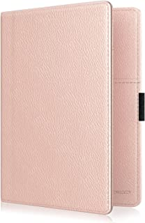 MoKo RFID Blocking Passport Holder Wallet, Multi-purpose Passport Cover Premium PU Leather Travel Wallet Case Cover - Rose Gold