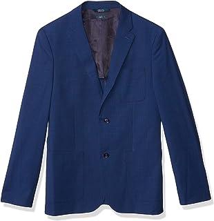 Perry Ellis Men's Slim Fit Solid Textured Suit Jacket, Navy, X Large/44 Regular