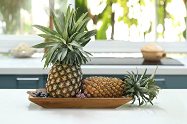 """Goaholic Handcrafted Dough Bowl - 15.5""""x 6.2""""x 1.6"""" Decorative Bowl For Storaging Fruits, Vegetables or Showing o"""