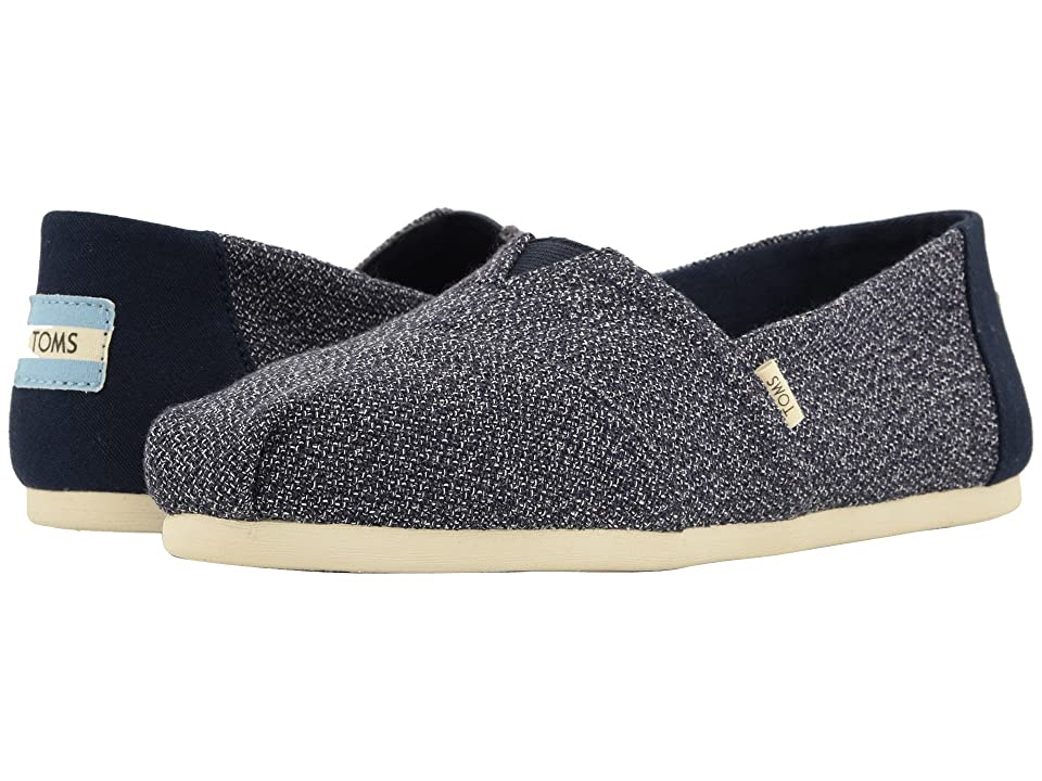 TOMS Alpargata (Navy Terry Cloth (Vegan)) Women