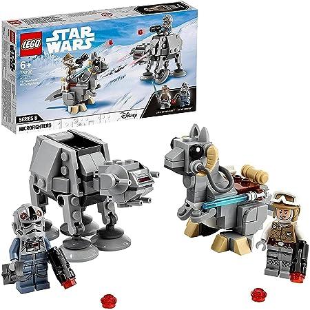 LEGO 75298 StarWars Microfightersat-atContreTauntaun Jeu de Construction Minifigurines de Luke Skywalker et du Marcheur at-at