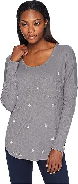 Primal Scattered Stars Carefree Pocket Long Sleeve T-Shirt