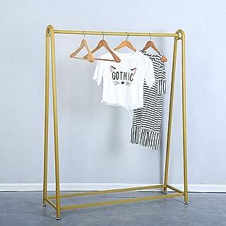 Womio Metal Clothes Rack with Clothing Hanging Rack Organizer,Drying Rack,Display Racks,Garment Racks,Gold