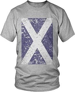 Men's Oversized Faded Scotland Flag, Scottish Flag T-Shirt