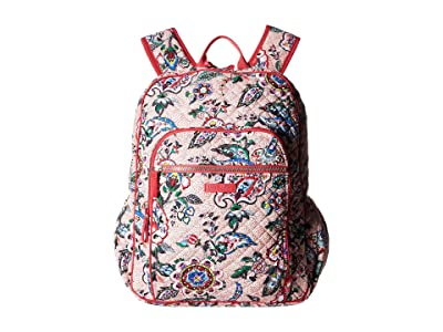 Vera Bradley Iconic Campus Backpack (Stitched Flowers) Backpack Bags