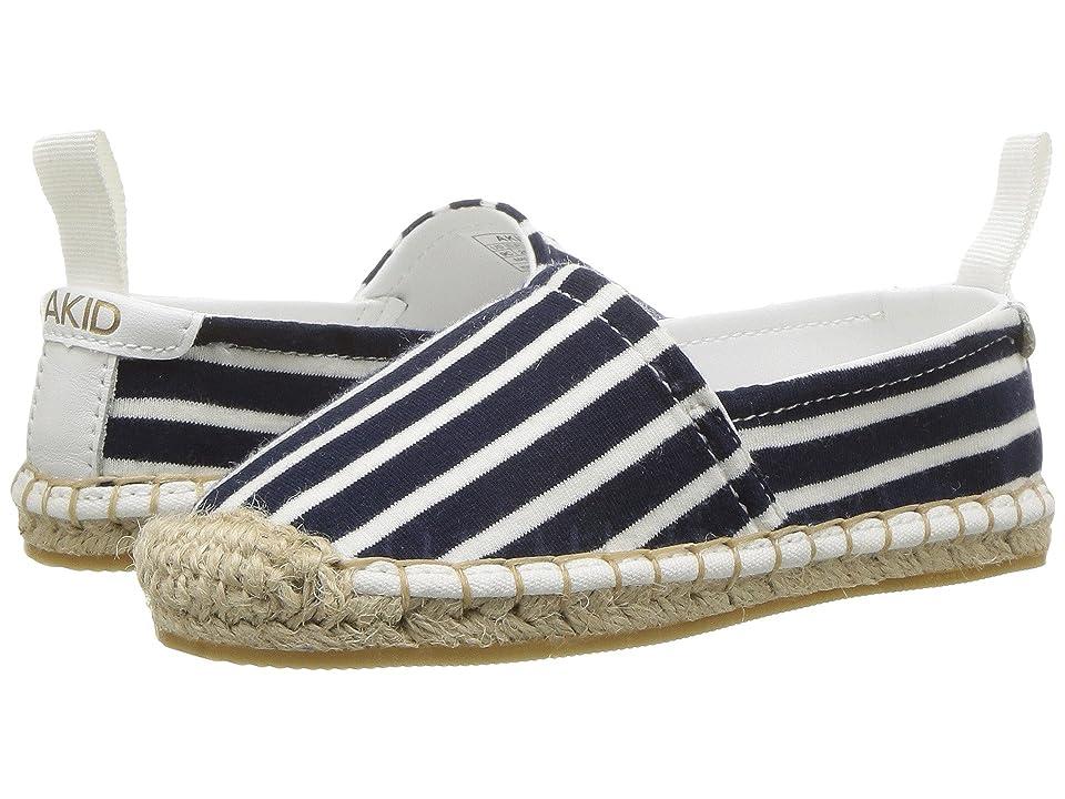 Image of AKID Brand Elle Shoe (Toddler/Little Kid/Big Kid) (Navy/White Stripes) Kid's Shoes