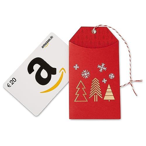 Amazon.de Geschenkkarte in Geschenkanhänger (Weihnachten) - mit kostenloser Lieferung per Post