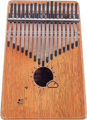 Flybiz Kalimba 17 touches Piano à pouce, Percussion à doigt en acajou africain, piano à doigt musical Kalimbas pour e...