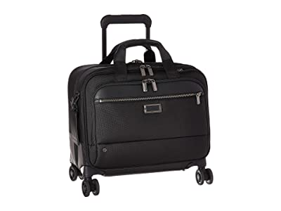 Briggs & Riley @work Medium Spinner Brief (Black) Briefcase Bags