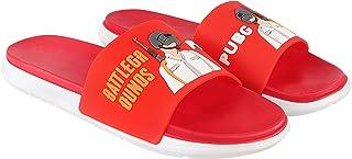 TATTOOZ PVC Slip On Slippers for Kids Home Slippers Flip Flop Slipper Indoor Outdoor Flip PUBG Print Print Sandals Foot We...