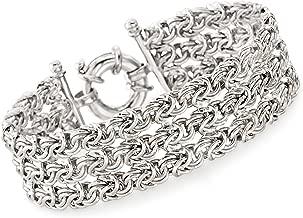 Ross-Simons Italian Sterling Silver 3-Strand Byzantine Bracelet