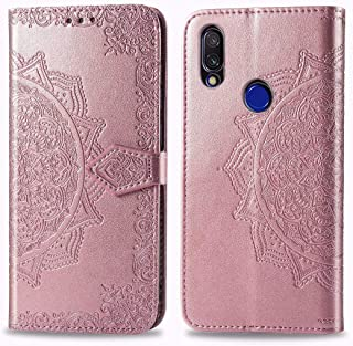 FanTing Case for Samsung Galaxy J4 Core,Mandala series Mobile Wallet Flip Cover with Mobile Phone Holder and Card Slot,Mag...