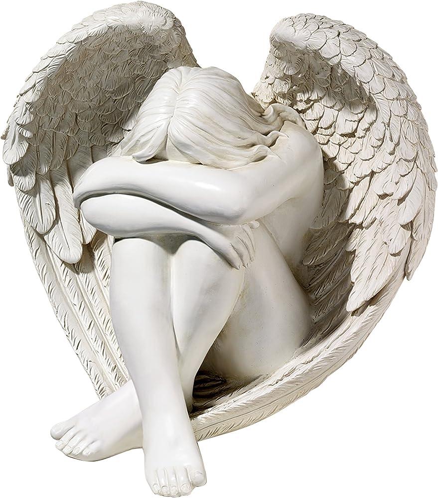 Jq6366 statua di angelo solitudine serena