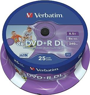 Verbatim 43667 - DVD+R doble capa inkjet printable 8x, pack