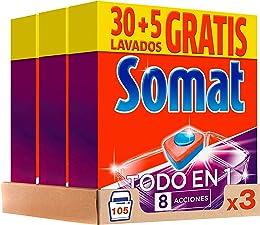 Somat Lot de 3 pastilles nettoyantes pour lave-vai