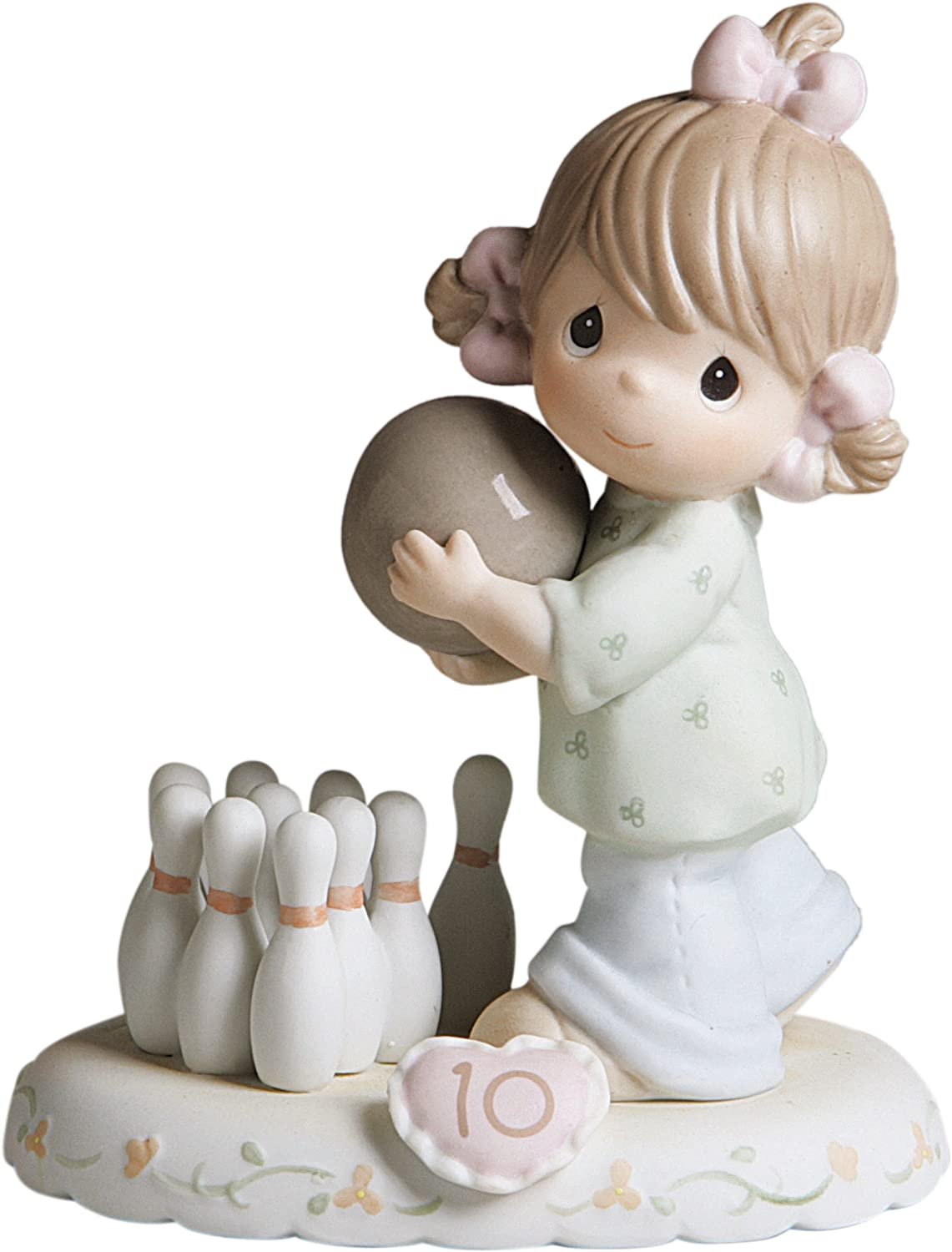 Precious Moments Brunette Girl Bowling Age 10 Figurine