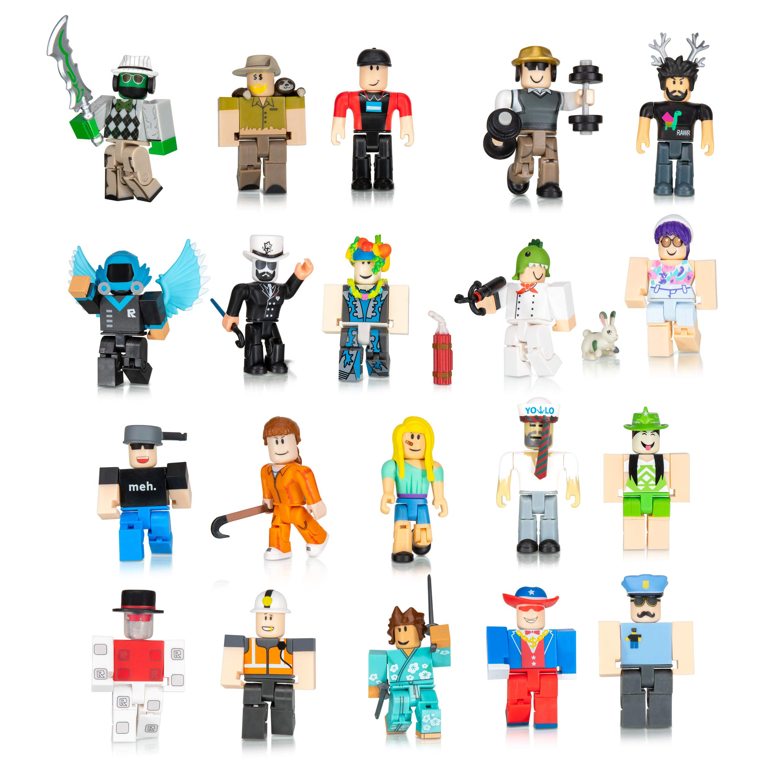 Roblox Figure Toys Games Action Figures Collectibles On Amazon Com Roblox Action Collection From The Vault 20 Figure Pack Includes 20 Exclusive Virtual Items Toys Games