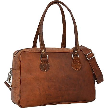 Gusti Handtasche Leder - Emily Shopper Tragetasche Unitasche Vintage Braun Leder