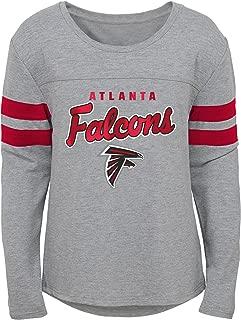 NFL NFL Atlanta Falcons Youth Girls Field Armor Long Sleeve Dolman Tee Heather Grey, Youth Small(7-8)