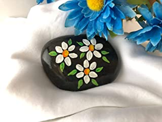 Daisies Painted Stone