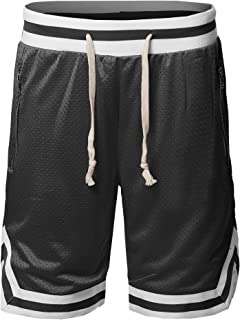 Style by William Men's Casual Active Sports Side Pokets with Zipper Double Meshed Shorts