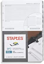 Staples 28103-21 2021 5.5-Inch x 8.5-Inch Weekly Planner Refill, Arc System