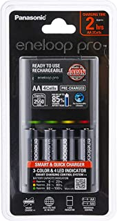 Panasonic Eneloop Pro Battery Charger with 4 AA Rechargeable Batteries