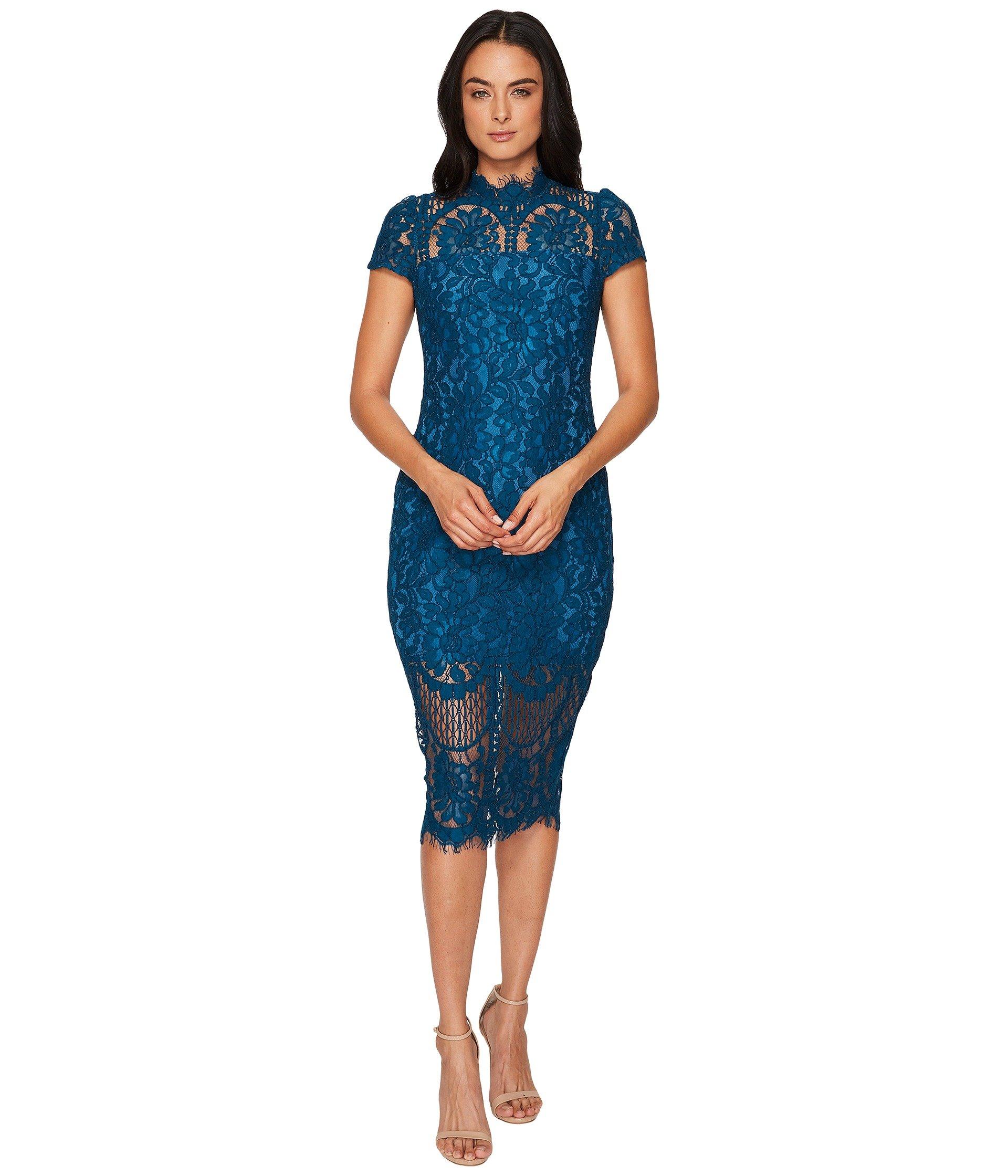 Yumi lace front shift dress