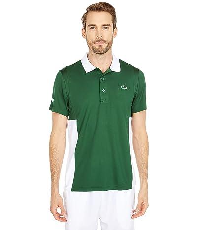 Lacoste Short Sleeve Color Block Mesh Breathable Pique Tennis Polo Shirt