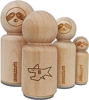 Wooden Stamp Shark Stamp