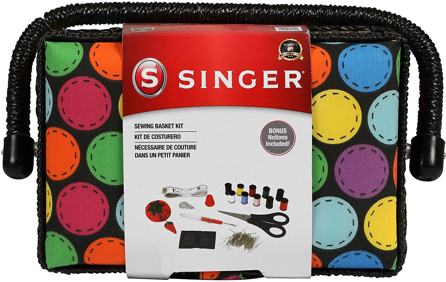 SINGER 07272 Polka Dot Small Basket Kit Milwaukee Mall Virginia Beach Mall Sewing Acces with