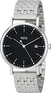 Vestal 'Sophisticate 36 Metal' Swiss Quartz Stainless Steel Dress Watch, Color Silver-Toned (Model: SP36M01.7SVM)