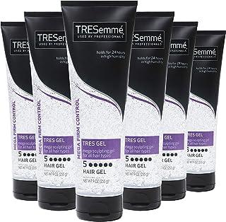 TRESemmé TRES Two Hair Sculpting Gel Mega Firm Control Mega Hold Hair Gel for All Hair Types 9 oz, Pack of 6