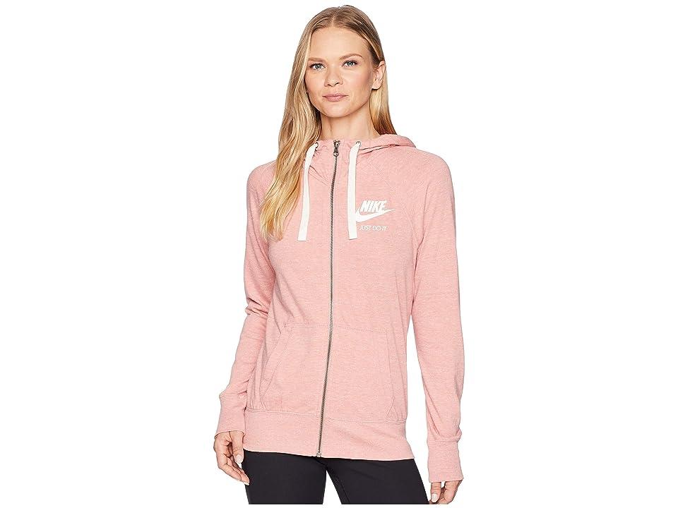 Nike Gym Vintage Full Zip Hoodie (Rust Pink/Sail) Women